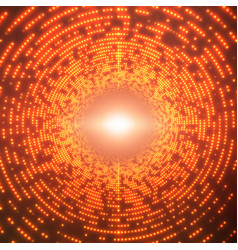 infinite round tunnel of shining vector image vector image