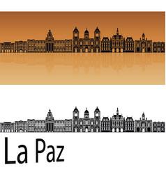 la paz skyline vector image vector image