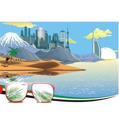 landscape - arab coast vector image vector image