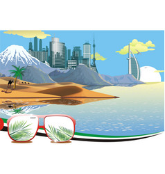 landscape - arab coast vector image