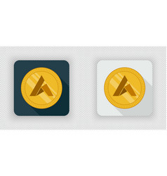 light and dark ardor crypto currency icon vector image vector image