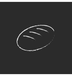 Loaf icon drawn in chalk vector