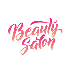 logo beauty salon lettering custom handmade vector image