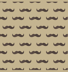 Mustache seamless patterns father s day holiday vector
