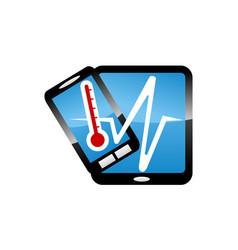 Phone health fix and repair vector