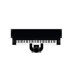 Piano instrument with man icon vector