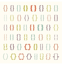 Set of braces or curly brackets icon vector image vector image