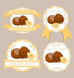The theme hazelnut vector