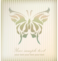 Vintage beautiful butterfly vector image