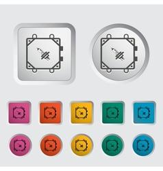 Xenon car lamp icon vector image vector image