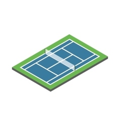 Tennis court icon isometric 3d style vector image