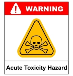 Hazard pictogram acute toxicity vector