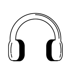 Headset audio device isolated icon vector