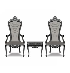Elegant baroque luxury furniture vector