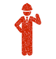 Engineer grunge icon vector