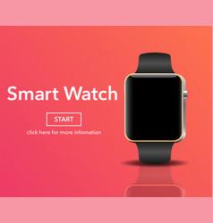 Smart electronic intelligence watch vector