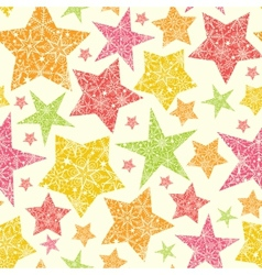 Snowflake textured christmas stars seamless vector