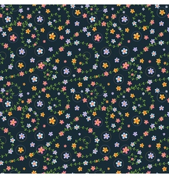 Floral seamless pattern with multicolored flowers vector