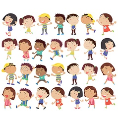A group of happy kids vector image
