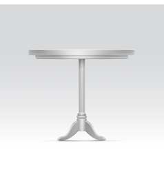 Empty round table vector