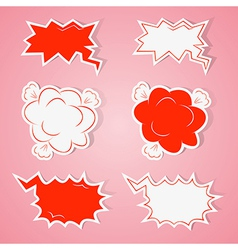 Angry speech bubbles vector