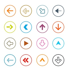 Outline arrows set in circles vector