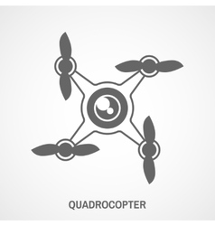 Quadrocopter icons flat vector