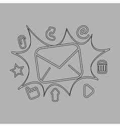 Email settings design vector