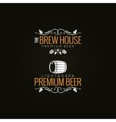 beer label set background vector image