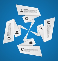 Abstract paper options infographic Design element vector image