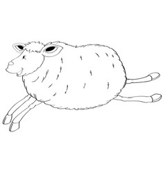 animal outline for jumping sheep vector image vector image