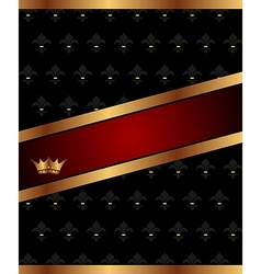 background with golden luxury crown - vector image vector image
