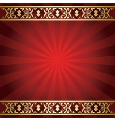 bright red background with rays from center vector image