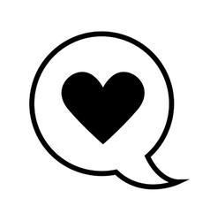 bubble heart love vector image vector image