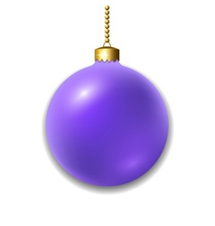 Christmas ball isolated vector