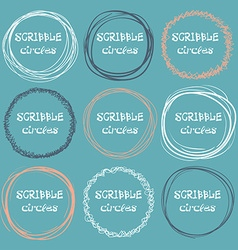 Collection of hand-drawn scribble circles on a vector image