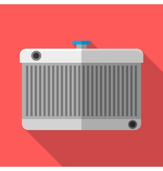 Colorful car radiator icon in modern flat style vector