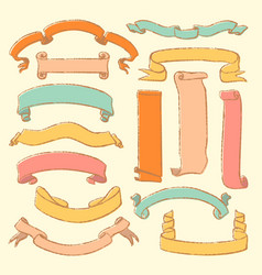 Colorful set of hand drawn banners vector
