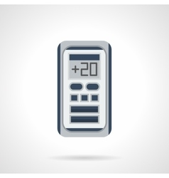 Digital climate control flat color icon vector image