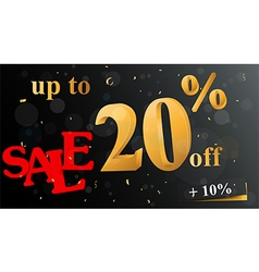 Discount sale banner vector