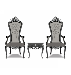 Elegant Baroque luxury furniture vector image