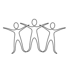 Figure people raise their hands vector