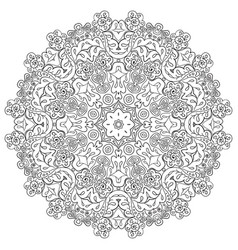 Floral lace motifs mandala zentangl relaxation vector
