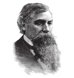 general jeremiah m rusk vintage vector image vector image