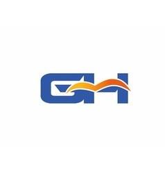 Gh letter logo vector
