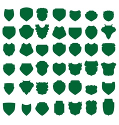 Green Shields vector image