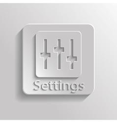 Icon setting vector image