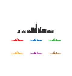 manhattan town logo vector image