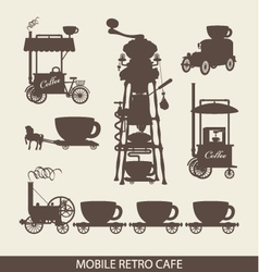 mobile cafe vector image vector image