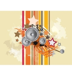 Music abstract background vector